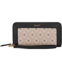 nine west clare zip around wristlet wallet