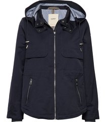 jackets outdoor woven zomerjas dunne jas blauw esprit casual