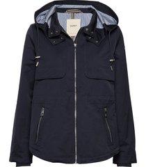 jackets outdoor woven zomerjas dunne jas blauw esprit casual