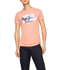 camiseta coral-blanco-azul pepe jeans
