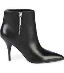 faye leather high-heel booties