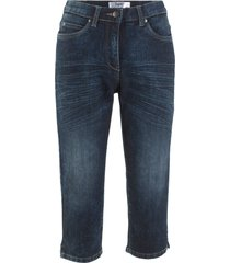 jeans capri in look usato (nero) - bpc bonprix collection