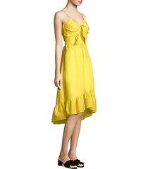 clorinda cutout poplin dress
