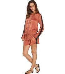 shorts curto com amarração liso murano pink p