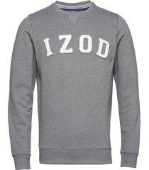 logo crew sweat-shirt tröja grå izod