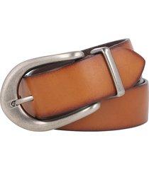 women's frye 2-piece leather belt, size large - tan