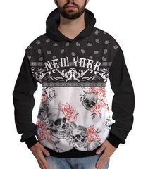 moletom caveira floral new york colorida skull