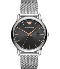 emporio armani men's stainless steel mesh bracelet watch 43mm
