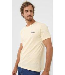 camiseta wrangler logo bordado amarela
