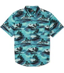billabong men's sundays tropical-print shirt