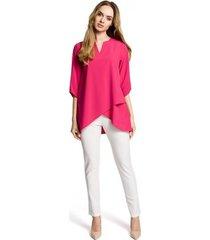 blouse moe m359 wikkelzoom top - roze