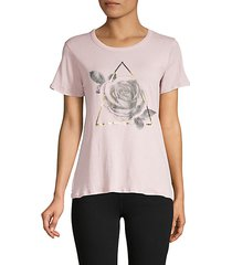 rose & triangle cotton t-shirt