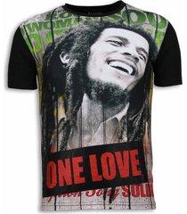 bob marley one love - digital rhinestone t-shirt