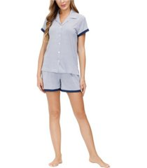 beautyrest women's notch collar and short 2pc pajama set