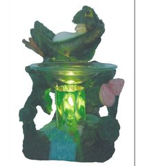 laidback frog oil/tart warmer - use with scentsy and yankee candle wax
