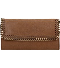 stella mccartney wallet in leather color faux leather