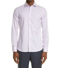 canali slim fit impeccabile dress shirt, size 15 in purple at nordstrom
