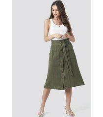 mango comptesa skirt - green