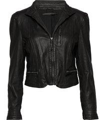 rucy leather jacket leren jack leren jas zwart mdk / munderingskompagniet