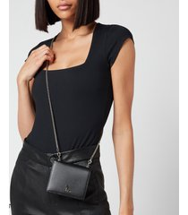 vivienne westwood women's debbie card case with chain - black