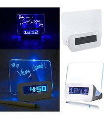 luminova led reloj digital led despertador luminoso tablero-