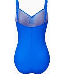 badpak met verstelbare schouderbanden van grimaldimare blauw