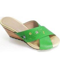sandalia venecia verde