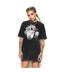 camisão t-shirt estonado monster preto