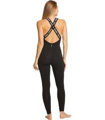 hard tail women's logo bodysuit - black - x-small cotton