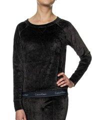 calvin klein modern cotton velour ls sweatshirt * gratis verzending * * actie *