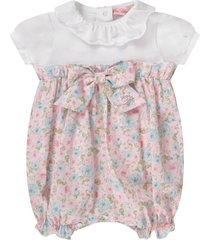 blumarine white babygirl rompers with colorul flowers