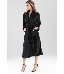 cashmere fleece plush sleep & lounge bath wrap robe, women's, size xl, n natori