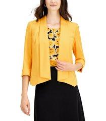 kasper drape-neck 3/4-sleeve blazer
