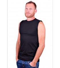 alan red mouwloos shirt montana zwart (2 pack)