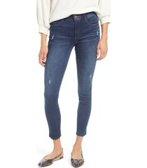 petite women's wit & wisdom ab-solution luxe touch high waist skinny jeans, size 4 - blue (petite) (nordstrom exclusive)