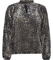 slkamiko blouse ls blouse lange mouwen zilver soaked in luxury