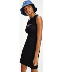 tommy hilfiger women's recycled timeless tommy bodycon dress black - xl