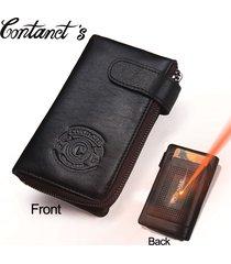 men wallets genuine leather multi functional car key wallet zipper male coin pur