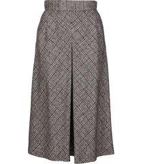 dolce & gabbana grey wool-alpaca blend skirt