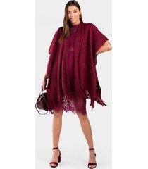 chelsea speckled kimono - burgundy