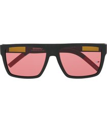 tommy jeans square frame tinted sunglasses - black