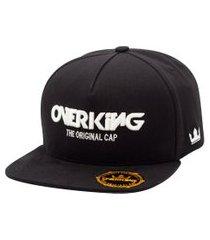 boné overking aba reta snapback the original cap preto