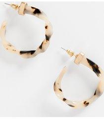 maurices womens twisted tortoise hoop earrings brown