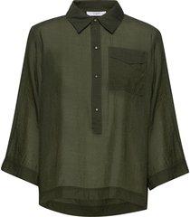 elba shirt blouse lange mouwen groen lovechild 1979
