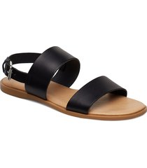 biabrooke basic leather sandal shoes summer shoes flat sandals svart bianco