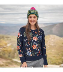 bountiful blooms pullover