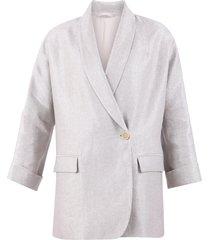 brunello cucinelli shawl collar blazer