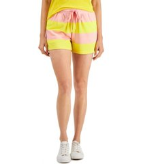style & co petite striped knit shorts, created for macy's