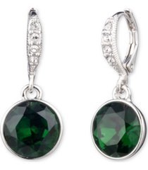 givenchy round stone drop earrings