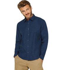 camisa algodón cepillado azul esprit